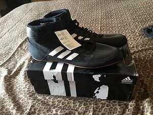 wholesale dealer 6e0a5 53fb8 Adidas Black Wrestling Shoes Size 11- Brand New In Box