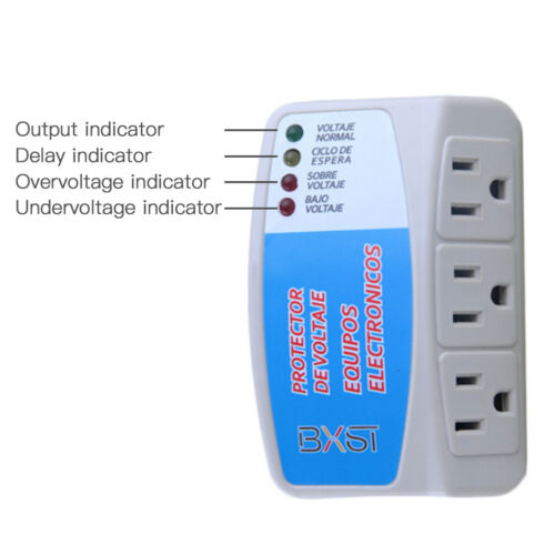 US Voltage Surge Protector Refrigerator Brownout Appliance Power 120V