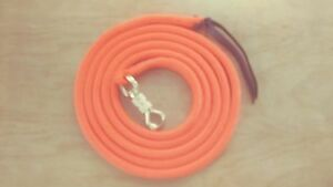 12-039-ORANGE-LEAD-ROPE-w-PARELLI-SNAP-FOR-NATURAL-HORSE-TRAINING