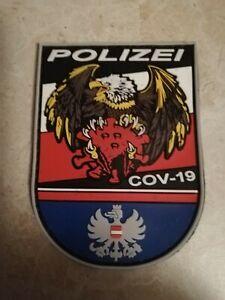 Cov19 Polizei Stoffabzeichen PVC 2