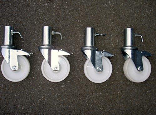 Classic Scaffold Tower Castors - Set of 4 Wheels - Best Quality - Guaranteed