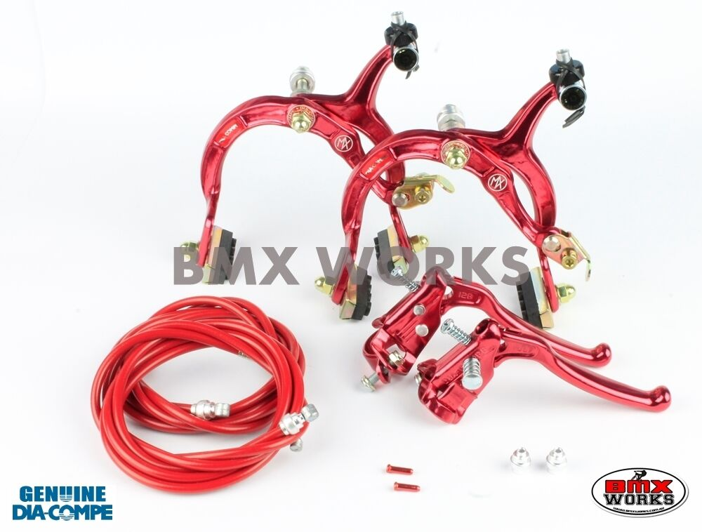 Dia-Compe MX1000 - MX128 (Tech-6) rot Brake Set Old Vintage School BMX