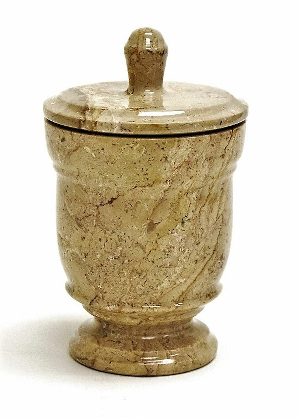 Luxury Sahara Beige Marble Canister of Tasmanian Collection