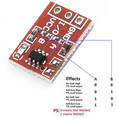 TTP223 Kapazitiver Touch-Schalter Button Self-Lock-Modul für Arduino BH