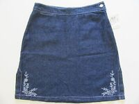 Ladies Denim Skirt 9 Jr Girl Teen Dark Blue Jean Lightweight Mini Msrp $29