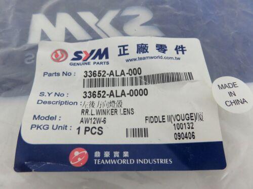 OEM SYM Fiddle II 50//125//150 Rear Left Turn Signal Lens PN 33652-ALA-000
