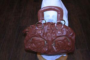 Image Is Loading Brown Handbag Bulga Rust