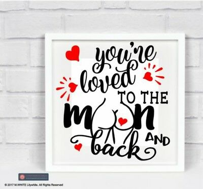 Vinyl Sticker FITS IKEA RIBBA FRAME We love you to the moon and back personalise