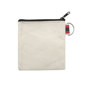 Muka 12 Pack Coin Purse with Carabiner Cotton Canvas Pouch 4-1//4 x 4-1//4 Inches