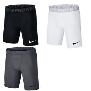 Détails sur Nike Pro Hommes Shorts Compression Short Pantalon Court Court Noir Gris Dri fit. afficher le titre d'origine