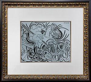 "Pablo Picasso LINOGRAVURE LTD Ed. ""Pique"" 1959 +Custom FRAME"