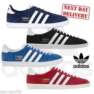 innovative design 8d89e 2853a Image is loading New-Adidas-Originals-Gazelle-OG-Suede-Leather-Mens-