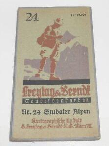 Linen-Map-Freytag-amp-Berndt-Nr-24-Stubaier-Alps-1900-10-L