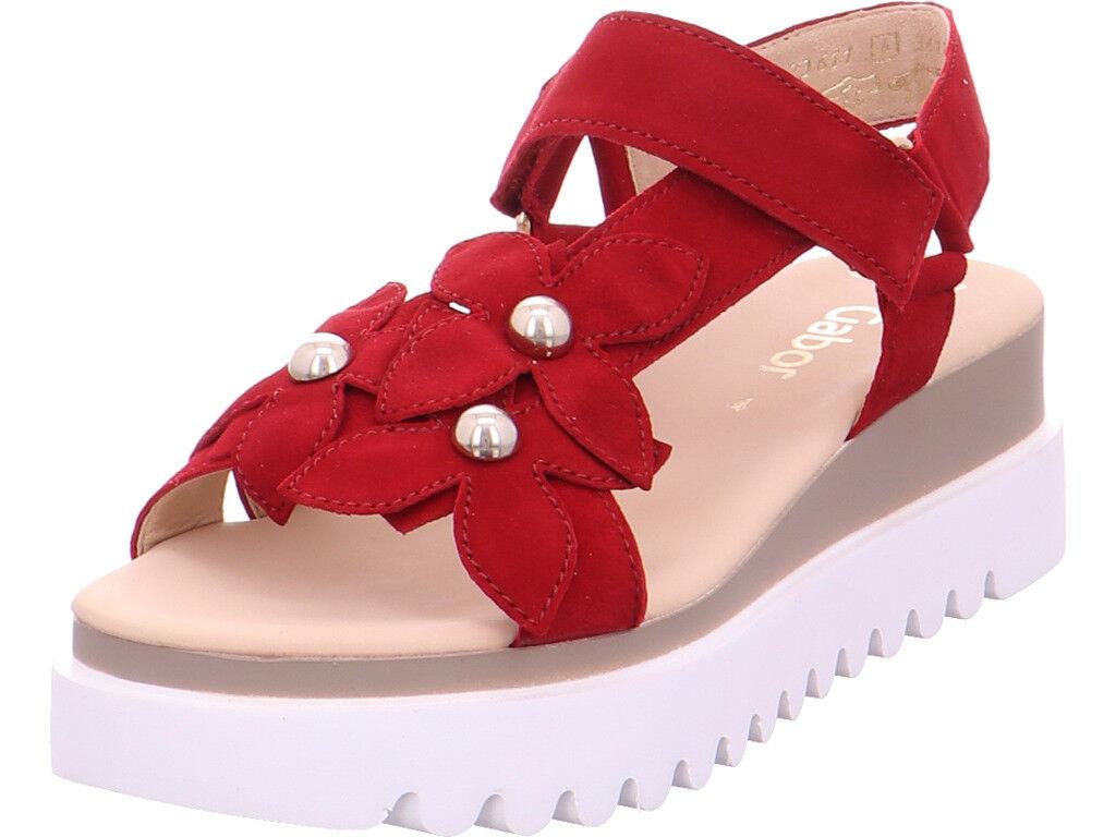 Gabor Damen  Sandale Sandalette Sommerschuhe rot