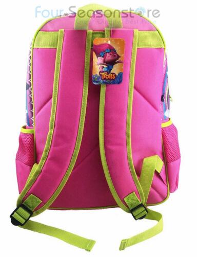 "Dreamwork Trolls Poppy and Her friends 16/"" Backpack School Book Bag"