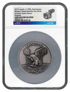 Coins & Paper Money Inventive 1969-2019 Apollo 11 50th Robbins Medal 5 Oz Silver W Alloy Ngc Gem Unc Sku56030 Wide Selection;