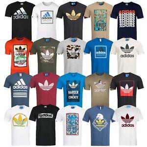 Adidas-T-Shirt-Herren-Shirt-Originals-Trefoil-Logo-Shirts-3-Stripes-Tee-NEU-WoW
