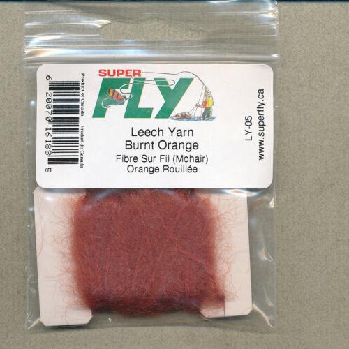 burnt orange     LY-05 mohair Leech Yarn