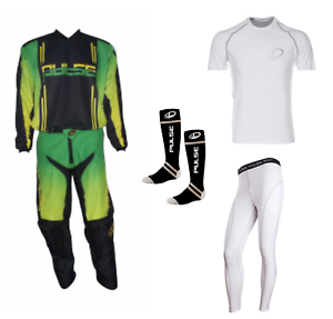 PULSE-GREEN-SYNERGY-MOTOCROSS-MX-ENDURO-QUAD-BMX-MTB-KIT-BASE-LAYERS-amp-SOCKS
