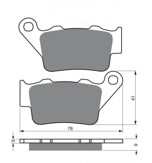 TRW mcb672rsi Brake Pads Rear Suitable for KTM LC4 690 SM Prestige Built 07-08