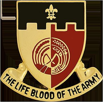 The Life Blood Of The Army 0064 Support Battalion Unit Crest