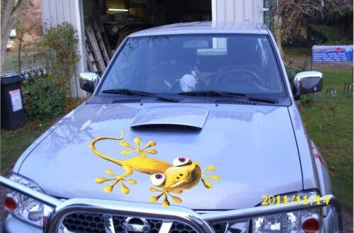Gecko teinte jaune d/'or 70 cm capots Kul-Autocollant Voiture Camion SUV caravane bus bateau