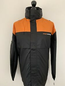 Orange Arrows F1 Formula One Team Merchandise Black Rain Zip Jacket Coat L BNWT