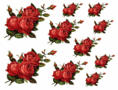 VinTaGe IMaGe DuTcH BLuE DeLFT RoSeS /& SWaGs ShaBby WaTerSLiDe DeCALs