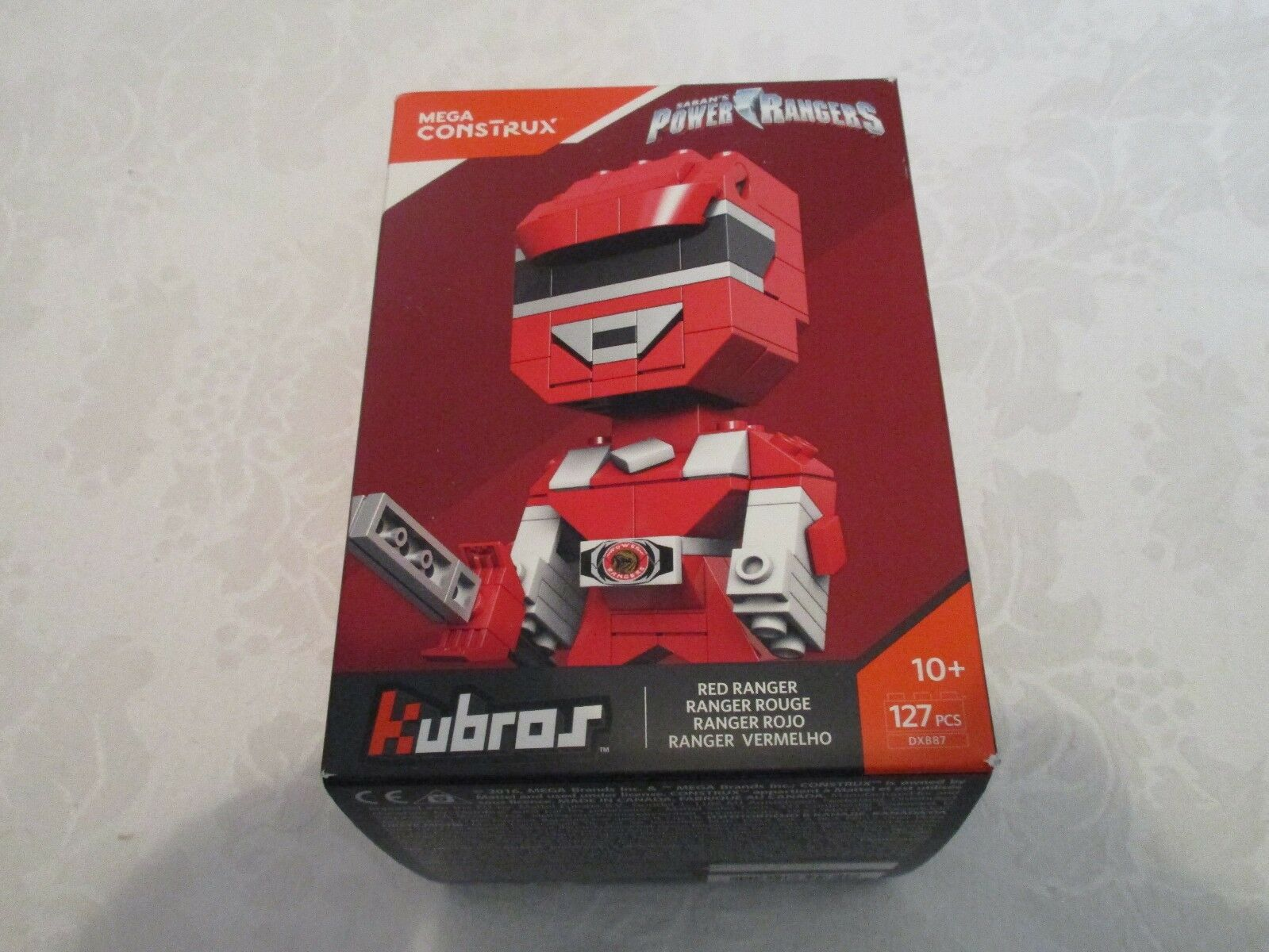 Kubros Mega Construx Not Movie Saban's Power Rangers rosso Ranger Toy Fair 2017