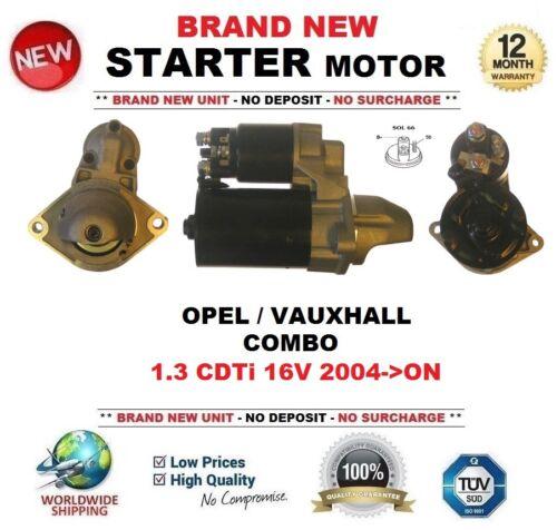 FOR OPEL VAUXHALL COMBO 1.3 CDTi 16V 2004-/>ON NEW STARTER MOTOR 1.1 kW 9 Teeth