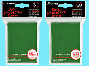 ULTRA PRO GREEN Deck Protector Card Sleeves YuGiOh Vanguard Small 60 Sleeves