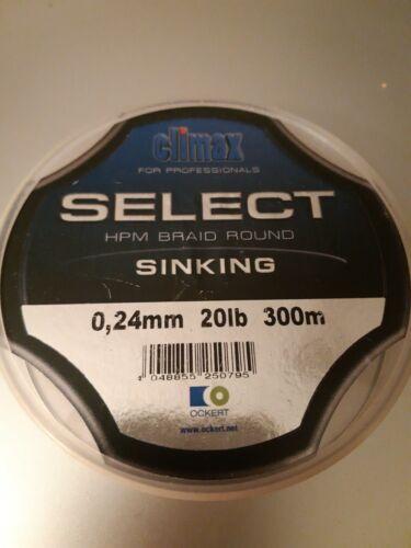 300 M 0,24 mm Climax Sélectionner HPM tresse ronde Sinking 20 lb environ 9.07 kg