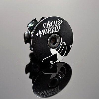 "Circus Monkey 1-1//8/"" Bike Bicycle Cycling Top Cap Headset Purple Star Washer"