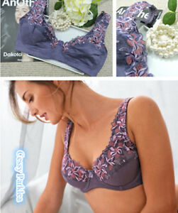 """Germany/""""Blancheporte/"""" Lavender Cotton Lace Wire-Free Full Support Bras"""