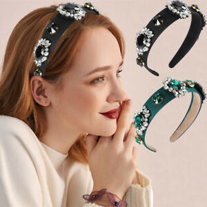 Baroque-Women-039-s-Embellished-Headband-Jewelled-Hairband-Crystal-Crown-Tiara-Party