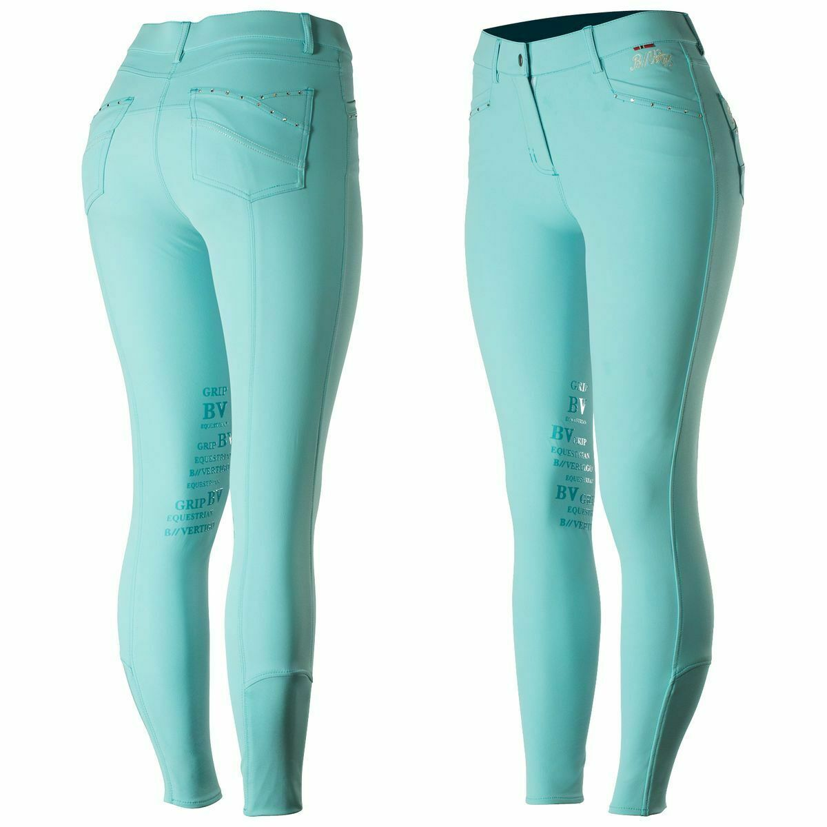 B. verdeigo Olivia Knee Patch Breeches gratuito SHIPPING