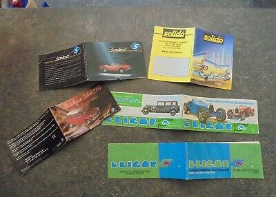 Lot De 5 Petits Catalogue Miniatures Eligor 82 & Solido 89 92 93 Voiture Camion 2019 Ultima Vendita Online Stile 50%