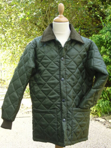 CHILDRENS HORSE QUILTED RIDING COATJACKET OLIVE NEW