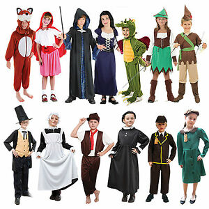 School-Book-Week-Childrens-Fancy-Dress-Costumes-Boys-Girls-Kids-Dressing-Up