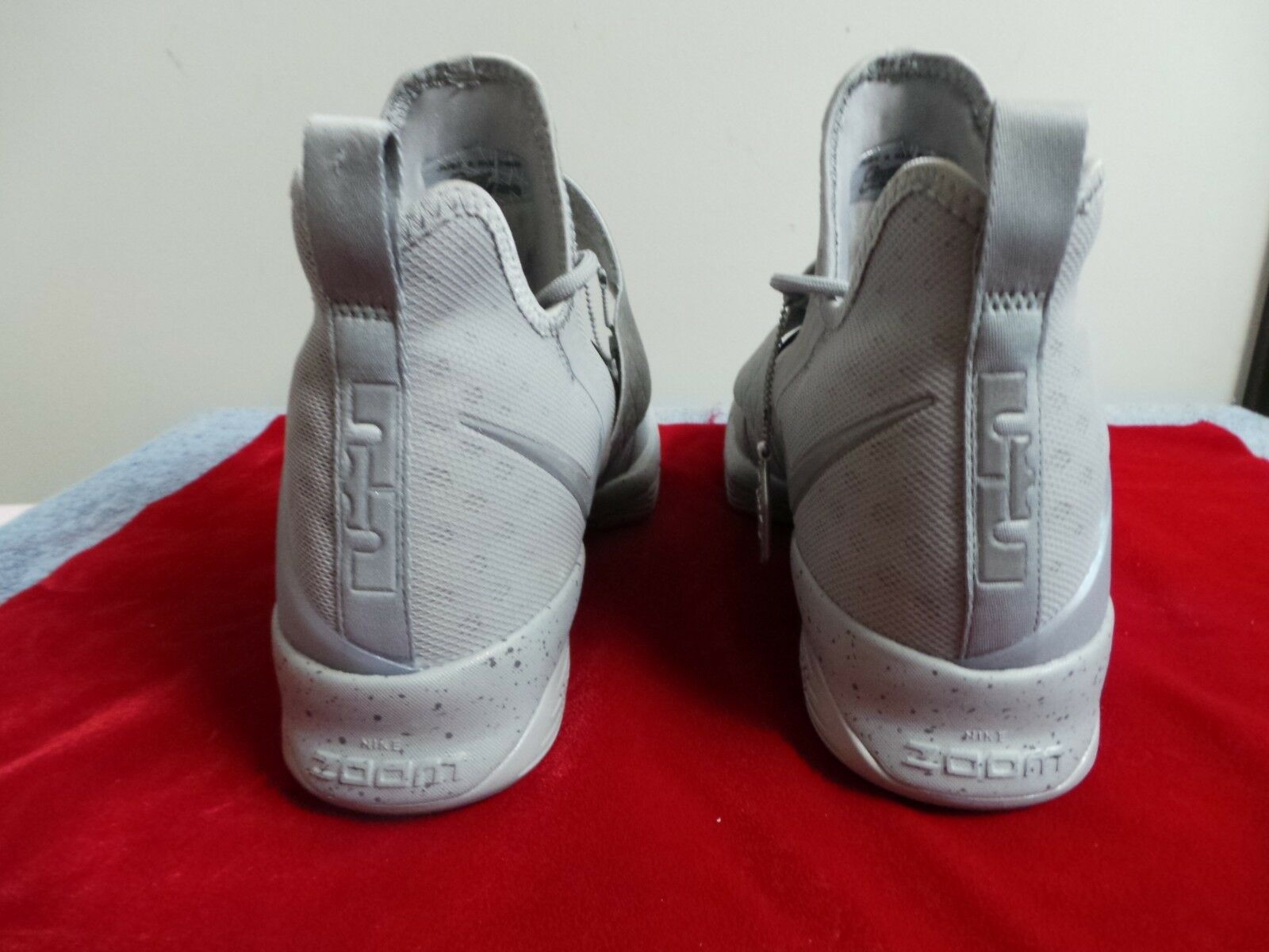 Nike Air Zoom LeBron James XIV 14 hex hex hex hexzoom out of nowhere Silber s 10 DS NEW 557887