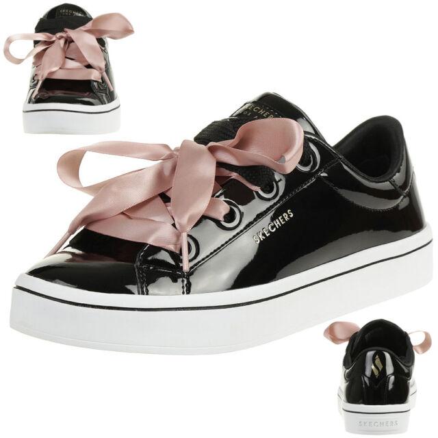 c7aaa64d2f5 Skechers Hi-Hird Slick Zapatos Zapatillas Deportivas de Mujer Negro Charol  959