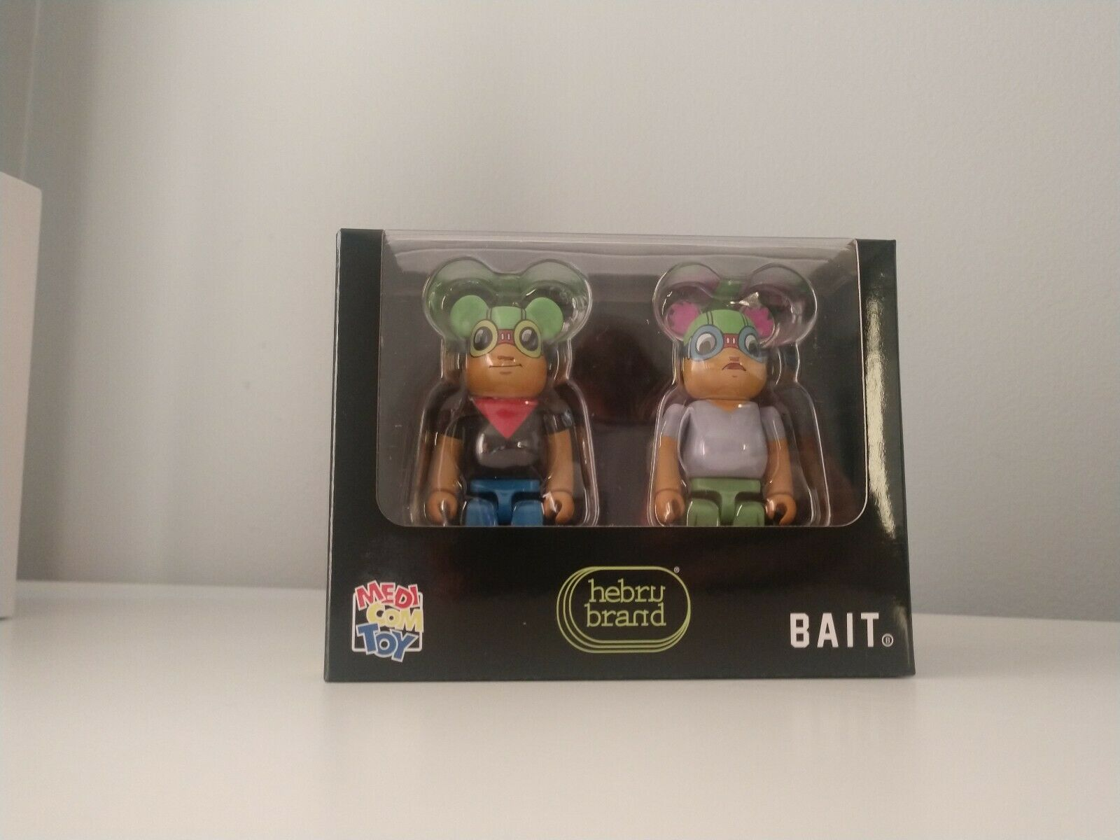 Hebru Brantley Bearbrick  Set Set Set Medicom 2019 NYCC Bait 100% New flyboy lil mama 548