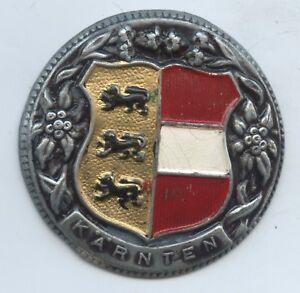 """A486 Medaillen Altes Abzeichen """"kärnten Wappen"""" Brosche Anstecker Coloriert Profitieren Sie Klein"""