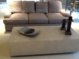 Details about Three piece living room set, comfortable down sofa and chair  with coffee table