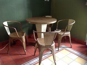 Détails sur Véritable salon de jardin TOLIX, Xavier Pauchard. table Kub et  fauteuils