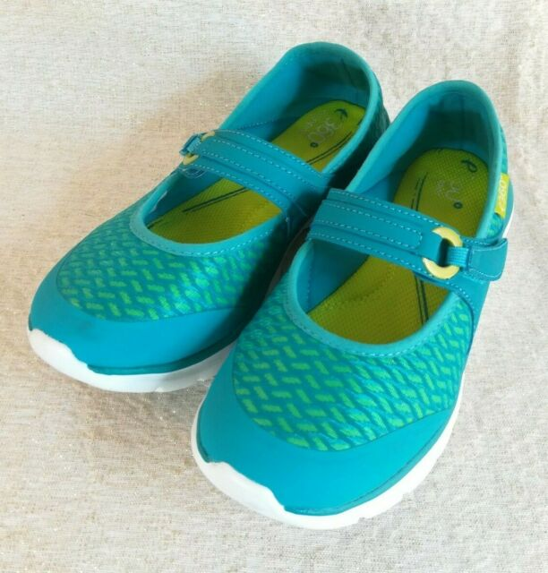 Womens Easy Spirit E-360 Slip On Blue and Green Shoes Size 7.5 M