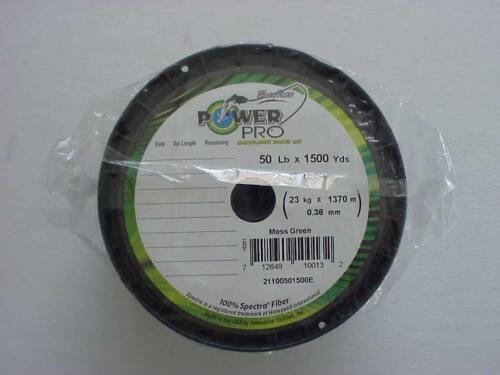 Power Pro Braided Spectra Line50 lb x 1500 yd  Moss Green We ship worldwide!
