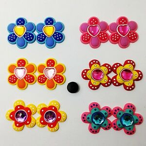 12pcs-Colorful-Flower-with-diamond-Shoe-Charm-Fit-Clog-Jibitz-Bracelet-Girl-Gift
