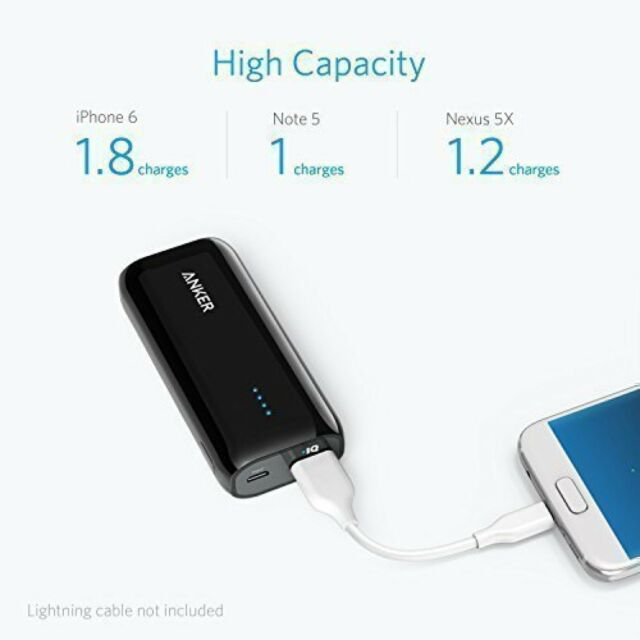 Anker Astro Power Bank E1 5200mAh Portable Charger FAST DELIVERY