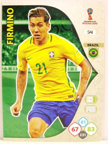 #054 Firmino-Brésil Panini Adrenalyn XL Coupe du monde 2018